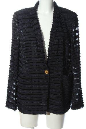 Basler Long-Blazer schwarz Streifenmuster Casual-Look