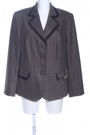 Basler Lange blazer bruin-lichtgrijs gestippeld zakelijke stijl