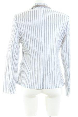 Basler Long-Blazer weiß-hellgrau Streifenmuster Casual-Look