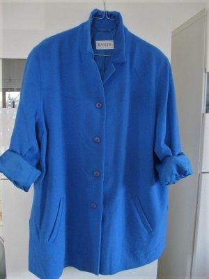Basler Cappotto in lana blu neon-blu Lana d'angora