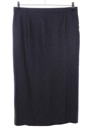 Basler Spódnica midi czarny Melanżowy W stylu biznesowym
