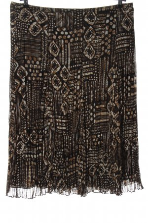 Basler Crash Skirt black-brown allover print casual look