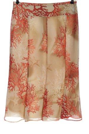 Basler Spódnica midi nude-czerwony Na całej powierzchni W stylu casual