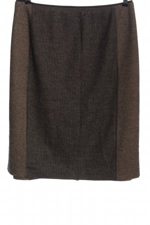 Basler Minigonna marrone puntinato stile professionale