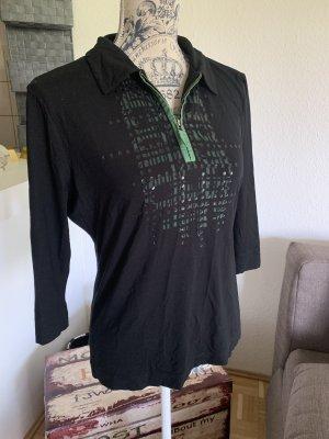 Basler Polo-Shirt/Sleeve - Größe 40 L - Black/Green - Zip