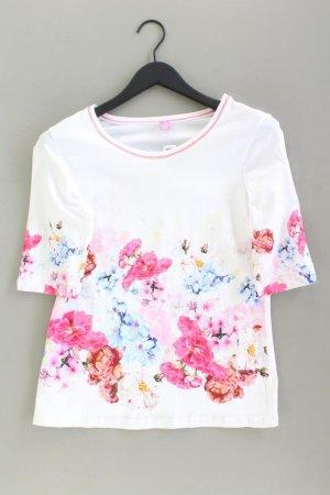 Basler Printshirt Größe 42 mit Blumenmuster Kurzarm mehrfarbig