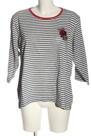 Basler Gestreept shirt blauw-wit gestreept patroon casual uitstraling