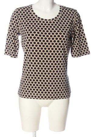 Basler Prążkowana koszulka kremowy-czarny Na całej powierzchni W stylu casual