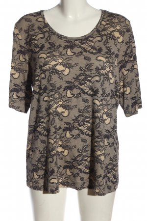 Basler Slip-over blouse wolwit-lila volledige print casual uitstraling