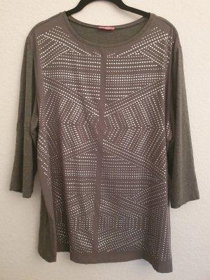 Basler Camicia a tunica argento-grigio