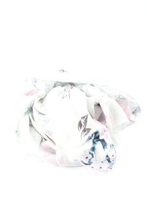 Basler Sciarpa estiva bianco-grigio chiaro motivo floreale stile casual