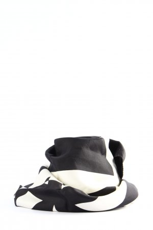 Basler Sommerschal weiß-schwarz abstraktes Muster Casual-Look