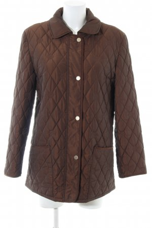 Basler Sport Long Jacket brown quilting pattern casual look
