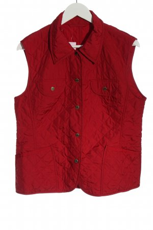 Basler Quilted Gilet red quilting pattern casual look