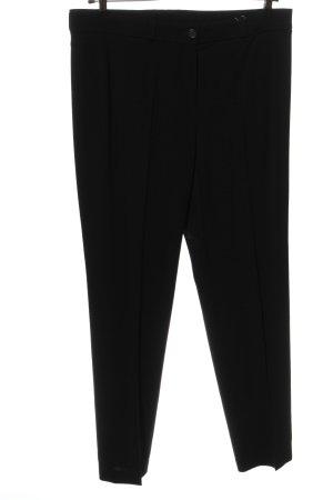 Basler Pantalone jersey nero puntinato stile casual