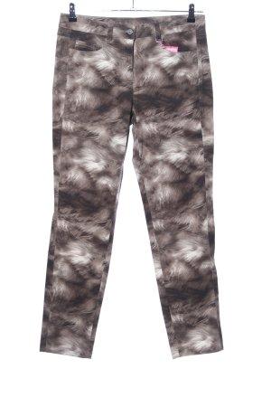 Basler Stretchhose schwarz-weiß abstraktes Muster Casual-Look