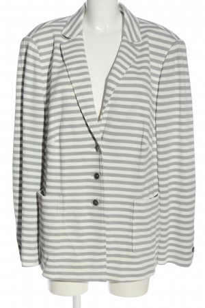Basler Knitted Blazer white-light grey striped pattern casual look