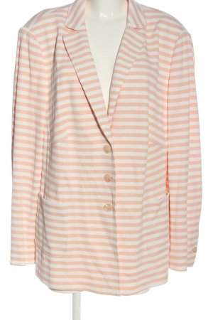Basler Strickblazer nude-weiß Allover-Druck Casual-Look
