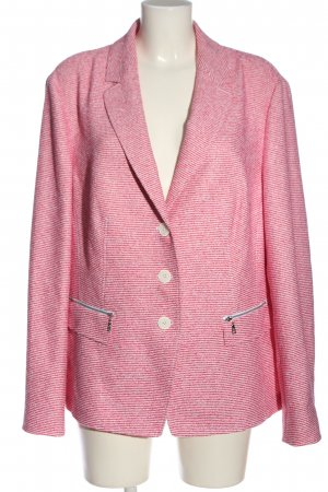 Basler Knitted Blazer pink-white striped pattern casual look