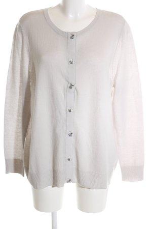 Basler Veste en tricot blanc cassé style décontracté