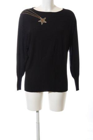 Basler Pull tricoté noir style décontracté