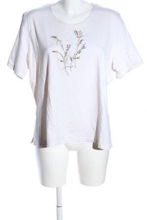 Basler T-Shirt weiß Motivdruck Casual-Look