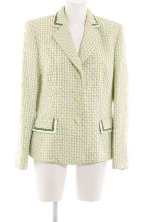 Basler Tweedblazer weiß-grün Allover-Druck Business-Look