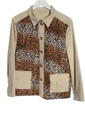 Basler Between-Seasons Jacket cream-brown animal pattern casual look