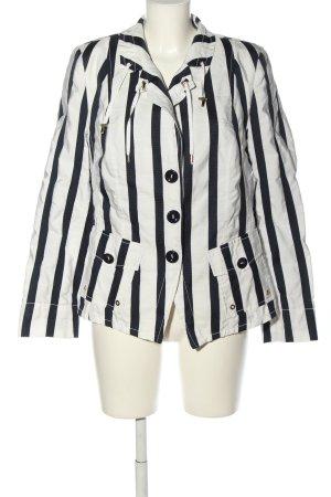 Basler Kurtka przejściowa biały-czarny Wzór w paski W stylu casual