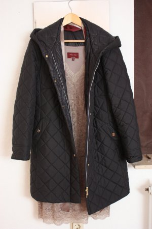 Basler Gewatteerde jas zwart-goud