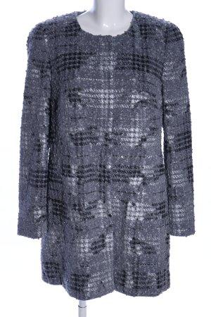 Basler Manteau mi-saison gris clair-noir motif à carreaux style d'affaires
