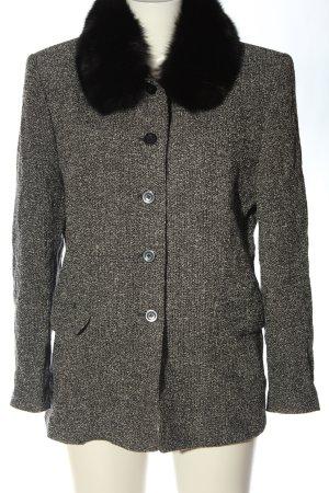 Basler Between-Seasons-Coat black-white flecked casual look