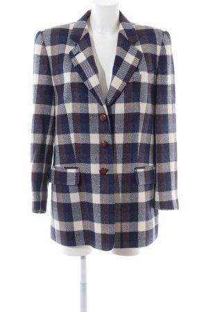 Basler Cappotto in lana motivo a quadri stile classico