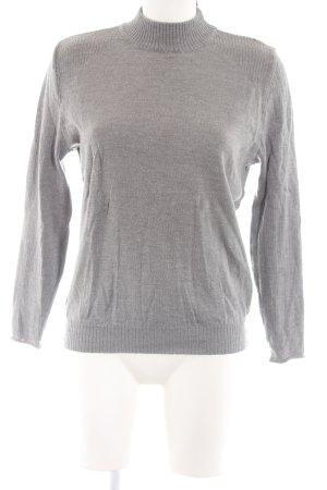 Basler Pull en laine gris clair moucheté style décontracté
