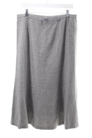 Basler Wollen rok grijs gestippeld zakelijke stijl