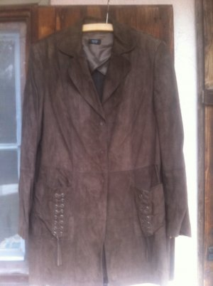 Basler Leather Coat light brown-brown leather