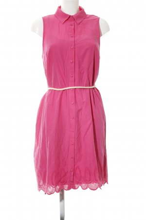 Bass Hemdblusenkleid pink grafisches Muster Business-Look