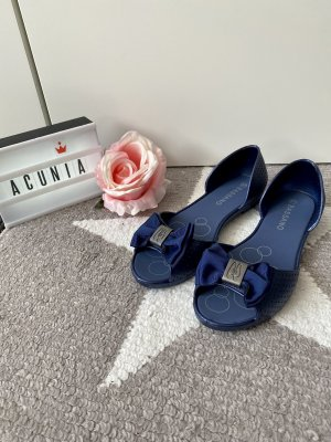 bassano Peep Toe Ballerinas dark blue