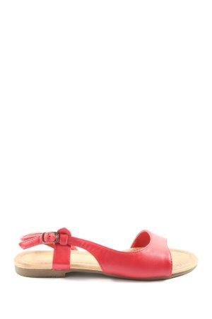 bassano Sandalias cómodas rojo look casual