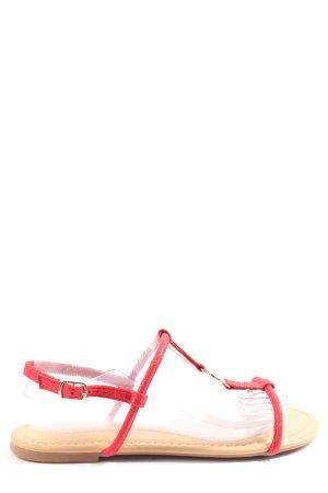 bassano Sandales confort crème-rouge style décontracté