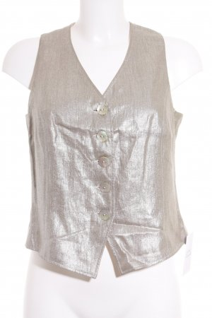 Basset Waistcoat silver-colored extravagant style