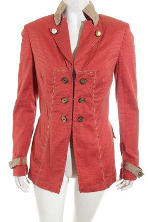 Basset Blazer rosso mattone-beige stile casual