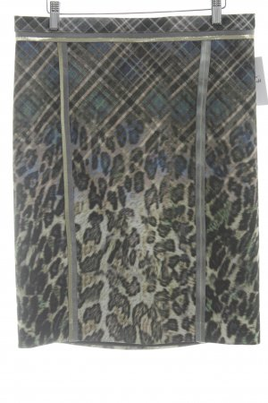 Basset Pencil Skirt animal pattern business style mixture fibre