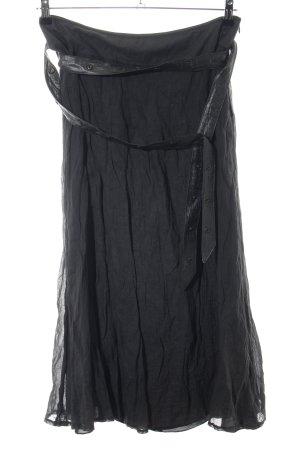 Basset Jupe taille haute noir style extravagant