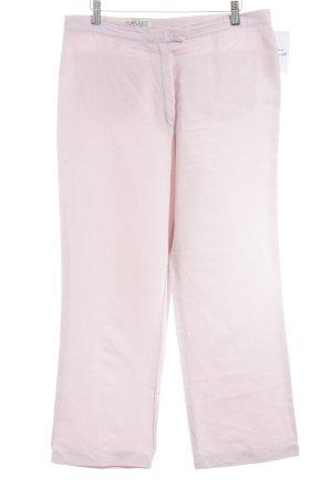 Basset Pantalon en lin rose clair