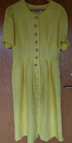 Basset Shirtwaist dress yellow linen