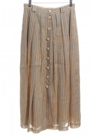 Basset Midi Skirt nude-blue striped pattern casual look
