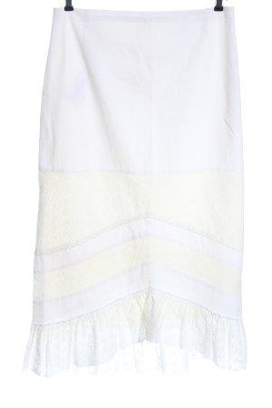 Basset Midi Skirt white casual look