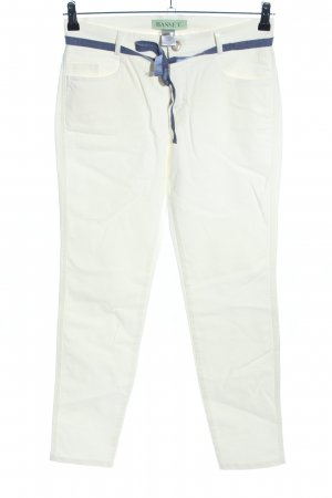 Basset Stretch Trousers white-blue business style