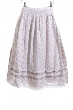 Basset Traditional Skirt white-green striped pattern classic style